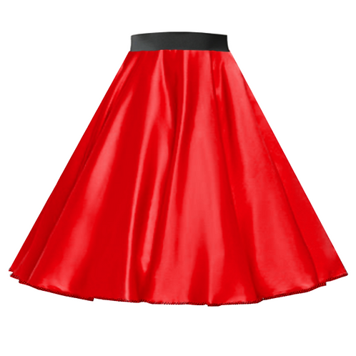 Satin Rock n Roll Skirt Red
