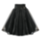 Black Ballroom Skirt
