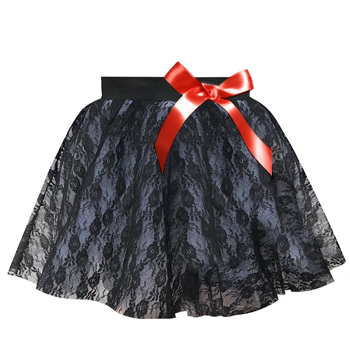 IC255 Lace & Bow Dance Skirt