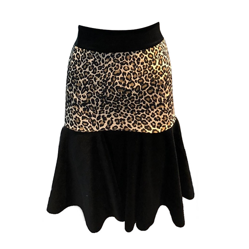 IC329 Leopard Print Latin Skirt