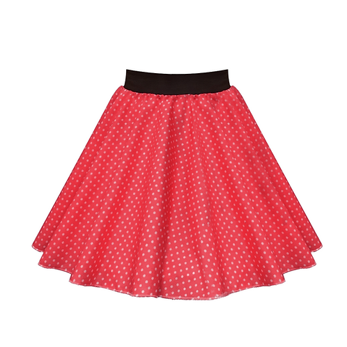 IC269 Red Small Spot Skirt