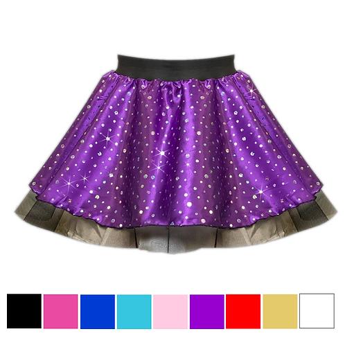 IC137 Satin Sequin Tutu Skirt