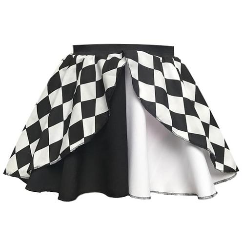 IC274 Jester Black & White Layered Skirt