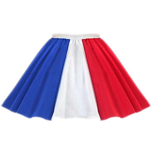 IC227 Bastille Day French Flag Skirt
