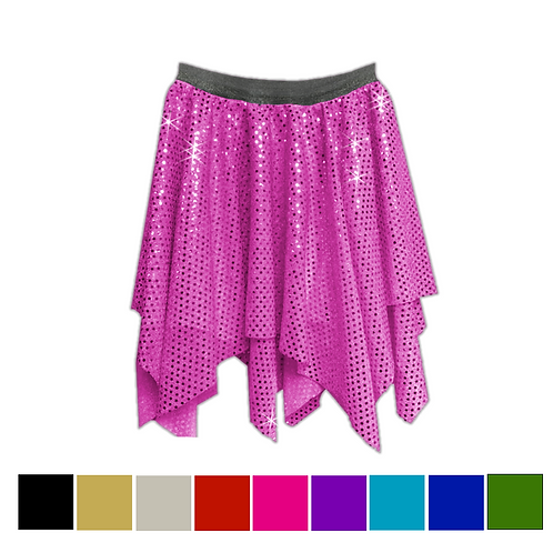 IC192 Sequin 2 Layer Lyrical Skirt