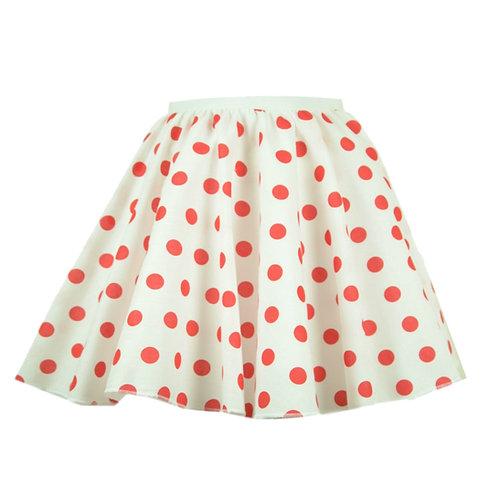 White and Red Polka Dot Rock n Roll skirt