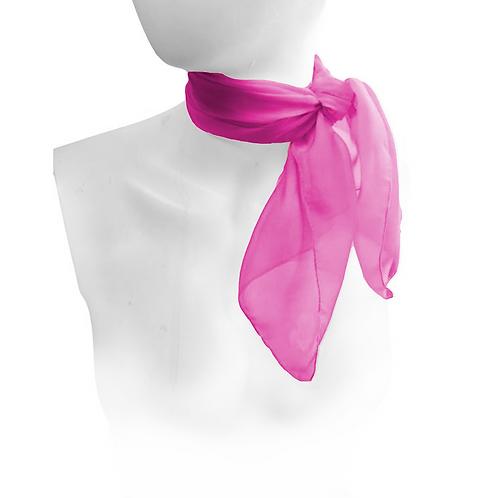 Cerise Pink 1950's Style Chiffon Neck Scarf