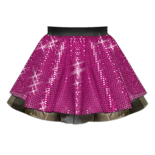 IC122 Pink Sequin Tutu Dance Show Skirt