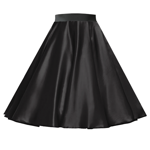 Satin Rock n Roll Skirt Black