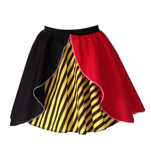 IC178 Queen of Hearts Layered Skirt