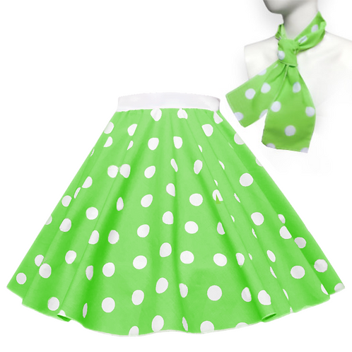 Polka Dot Rock n Roll Skirt