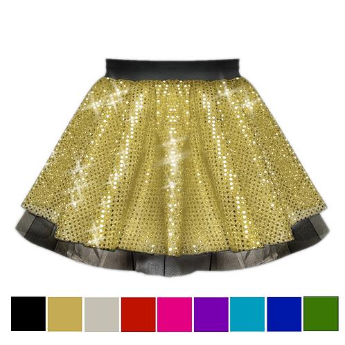 IC122 Sequin Tutu Dance Show Skirt