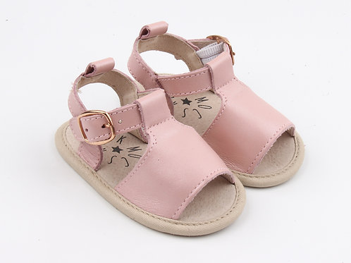Pink Leather Baby Sandals