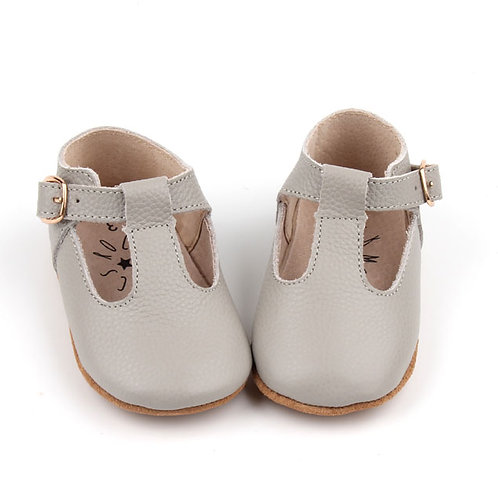 Leather T-Bar Baby Shoes