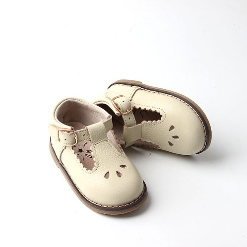 Neutral Leather Children's Shoes