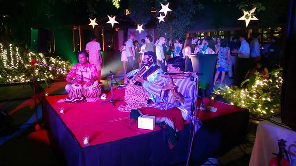 Live Classical Music at a wedding function at Alila Diva, Goa