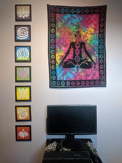 7 Chakras Meditiation Aid Wall Art