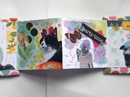 Explore No Sew Bookbinding & Collage (FREE art video)