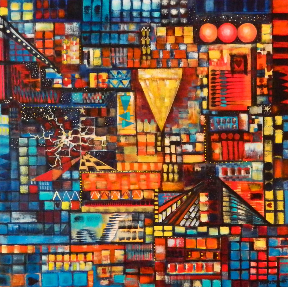 city-life-acrylic-on-canvas-by-bonnie-schnitter