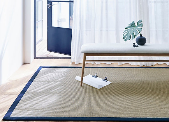 Sisal Big Boucle with Single Border