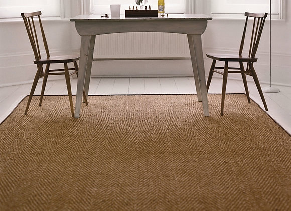 Coir Herringbone with Double Border