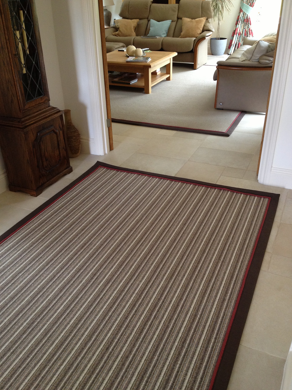 Wool Mississippi Stripe Rug & Wool Lustre Rug with matching Double Borders