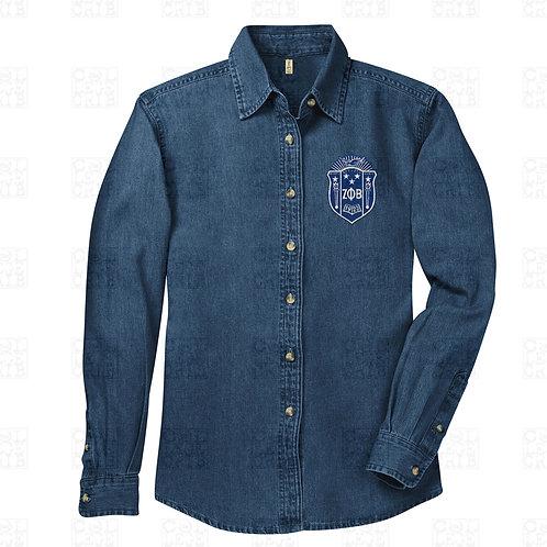 Zeta Embroidered Denim Shirt