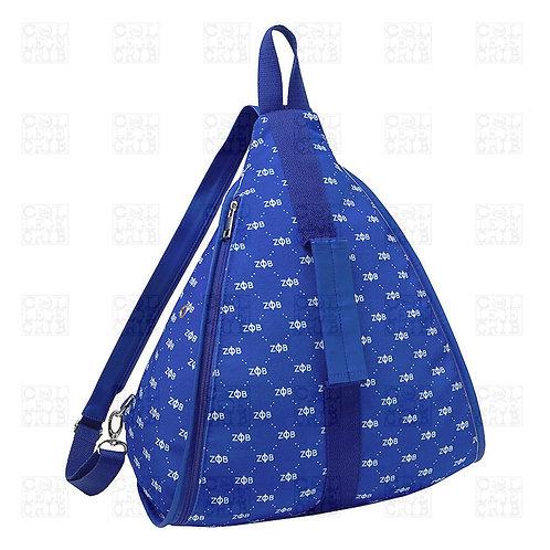 Zeta Phi Beta Monogram Pattern Backpack