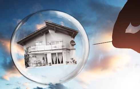 human-hand-poking-house-bubble-260nw-762