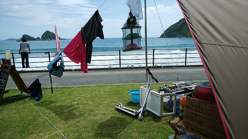 天草キャンプ。静かな魚貫崎でキャンプをお楽しみください。