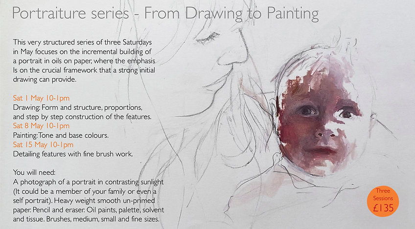 Portraiture Series-from drawing to paint