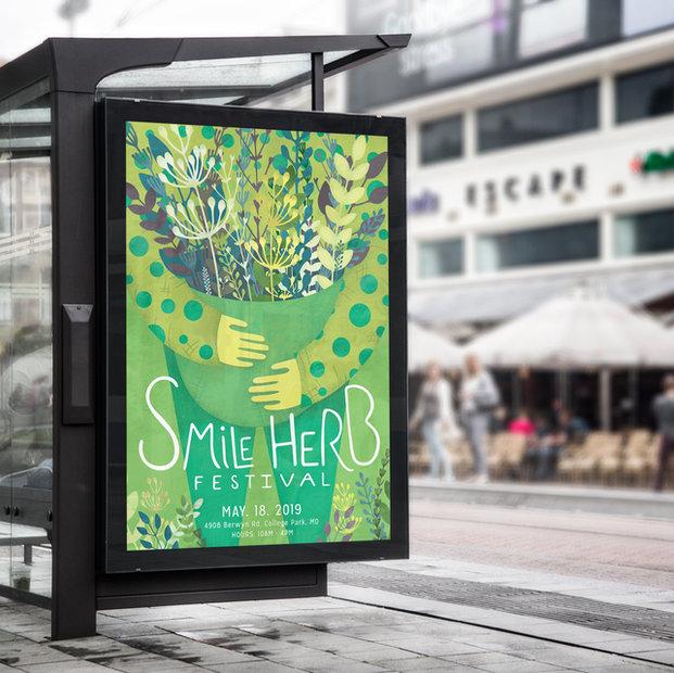 Smile Herb - Festival Branding