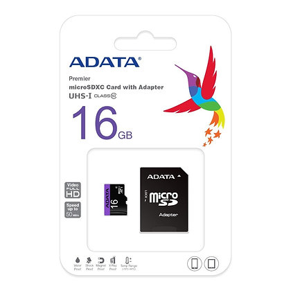 MICRO SD ADATA 16GB + ADAPTADOR