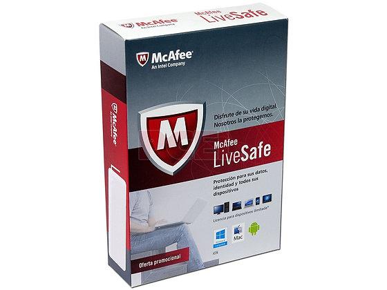 Antivirus McAfee LiveSafe multidispositivos (1 año)