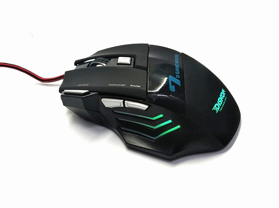 Mouse Gamer Usb 7 Botones Game Player /1600/2400/3200dpi