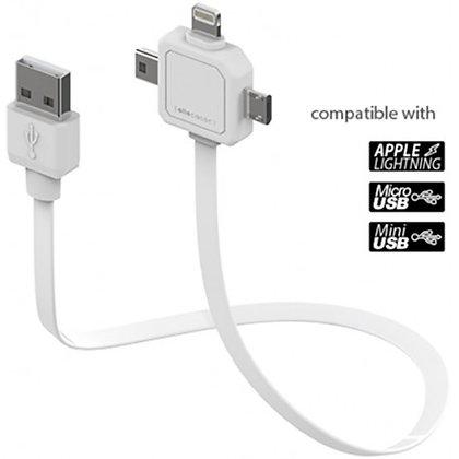 USB CABLE ALLOCACOC 3 PUERTOS BLANCO