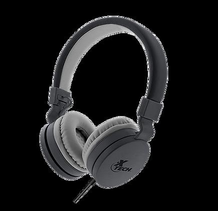 Audífonos Diadema Xtech Xth340 Alloy Micrófono Con Cable