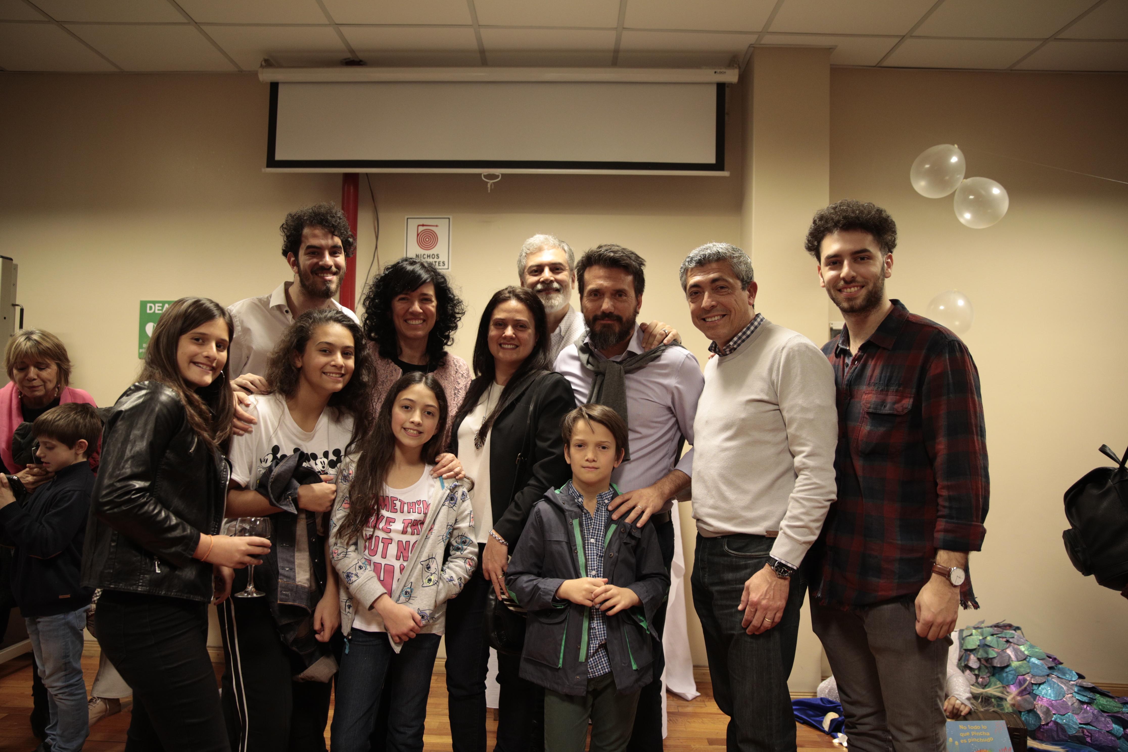 Paula Moreno y familia