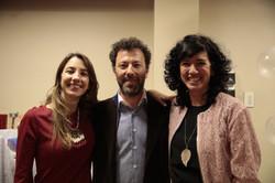 Las autoras junto a Dario