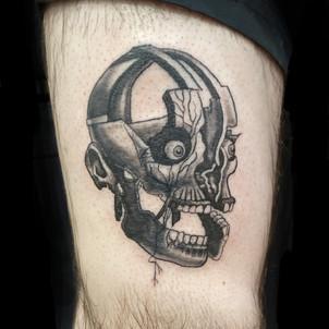 Exploding Skull Tattoo