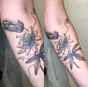 Anton Passion Flower Tattoo