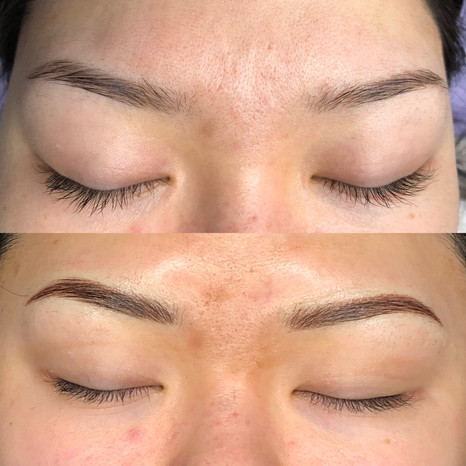 Cosmetic tattoo - thin eyebrows