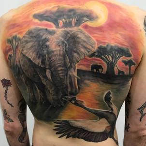 Elephant Plain Tattoo
