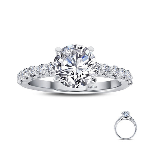 Round Solitaire Ring Lassaire Simulated Diamonds
