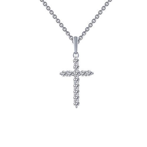 Cross Pendant Lassaire Simulated Diamonds