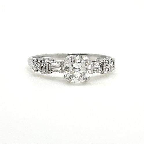 .72ctw Art Deco Platinum Diamond Engagement Ring