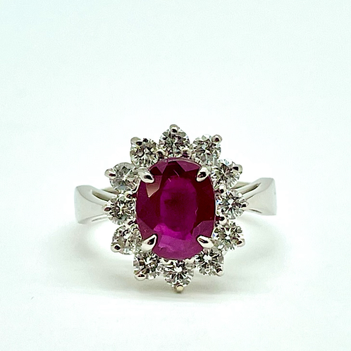 2.58ctw Ruby And Diamond Ring