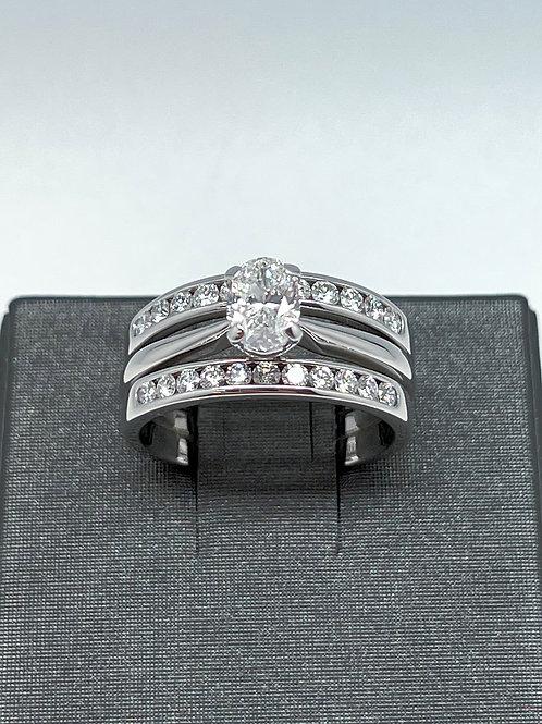 14k .70ct Oval Diamond Engagement Ring