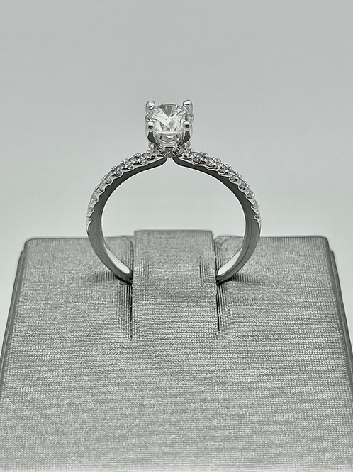 14kw .99ctw Round Brilliant Engagement Ring