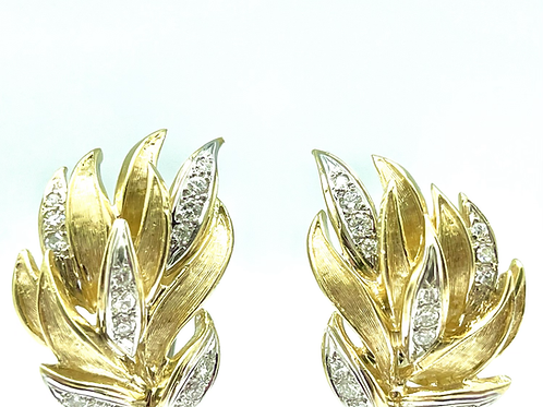 Vintage 18k Designer Style Earrings